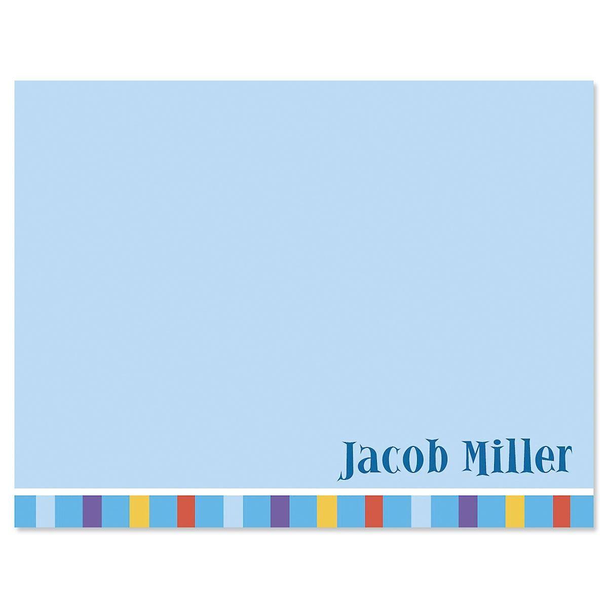 Color Bar Correspondence Cards