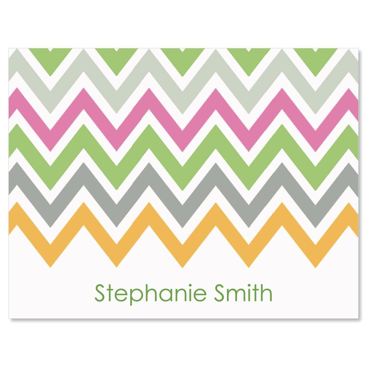 Chevron Personalized Note Cards