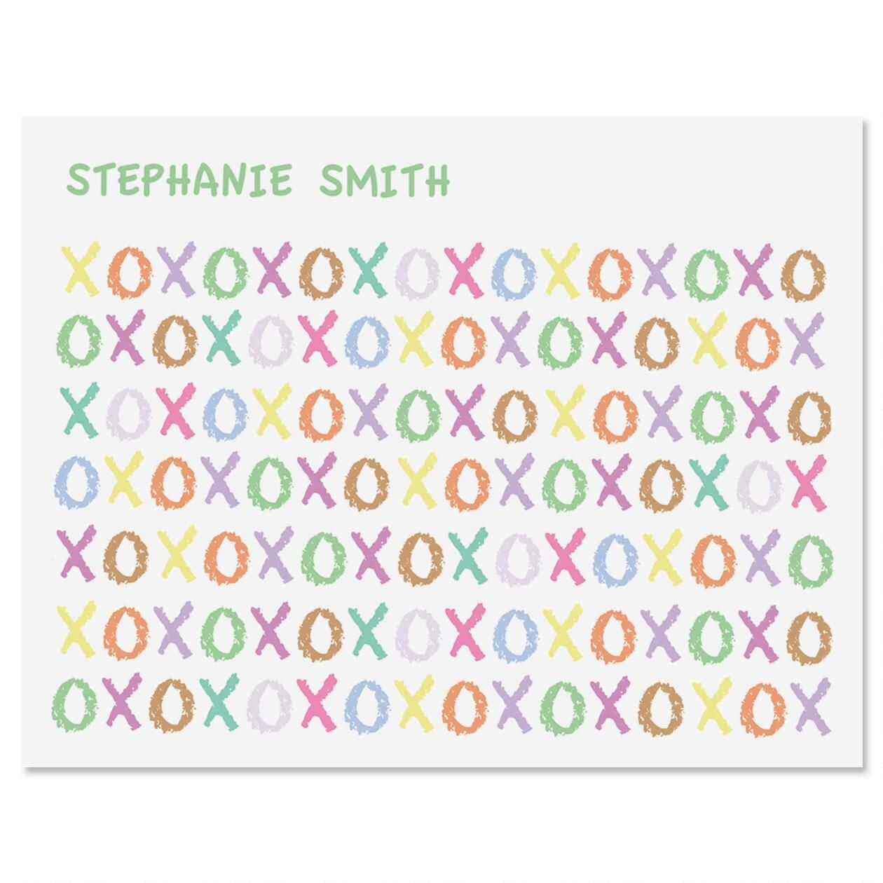 XOXOXO Personalized Note Cards