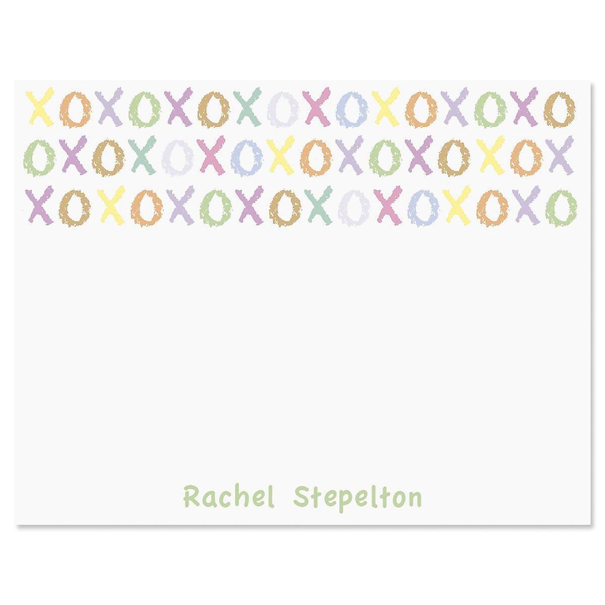 XOXOXO Correspondence Cards