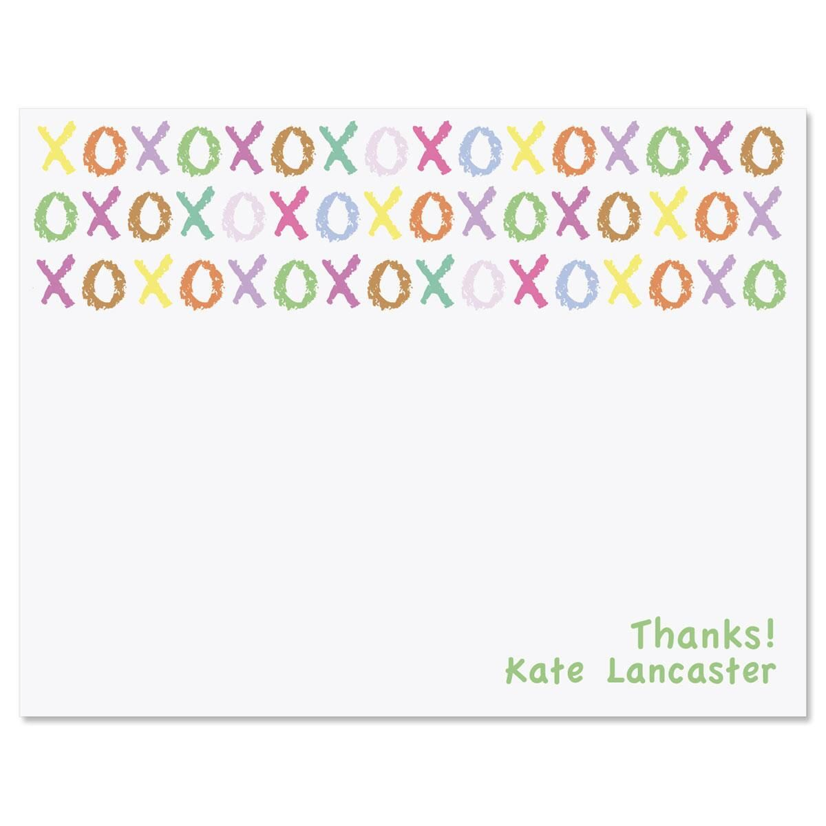 XOXOXO Personalized Thank You Cards