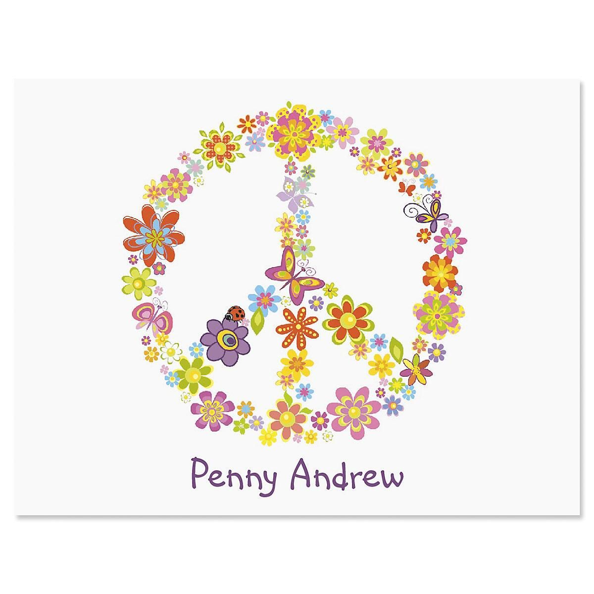 Peace Sign Note Cards