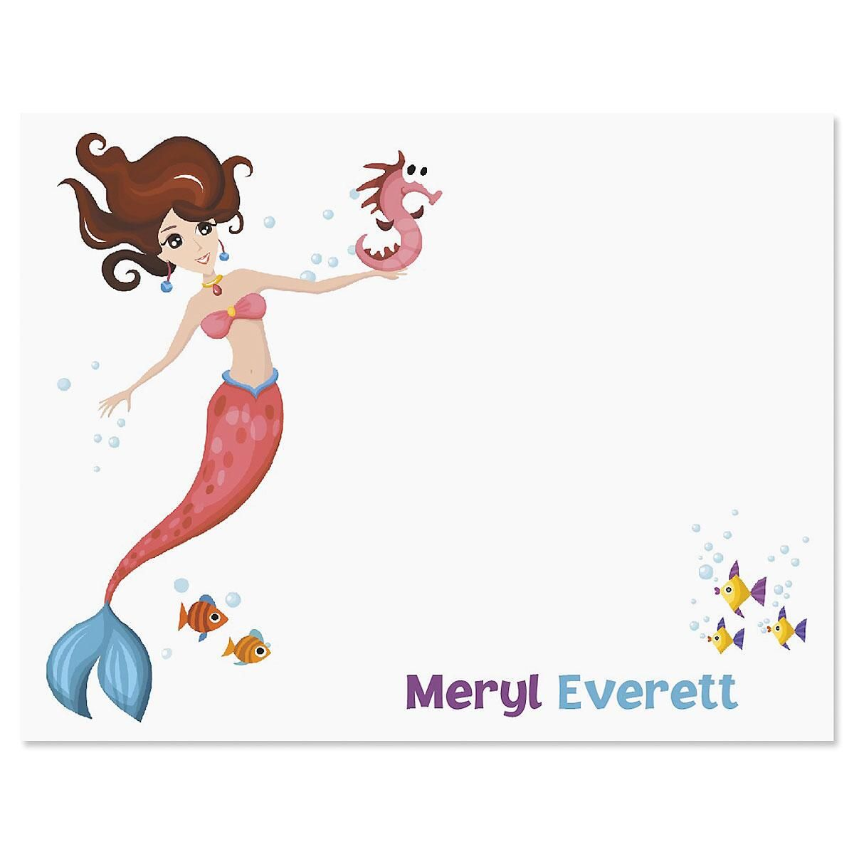 Mermaid Correspondence Cards