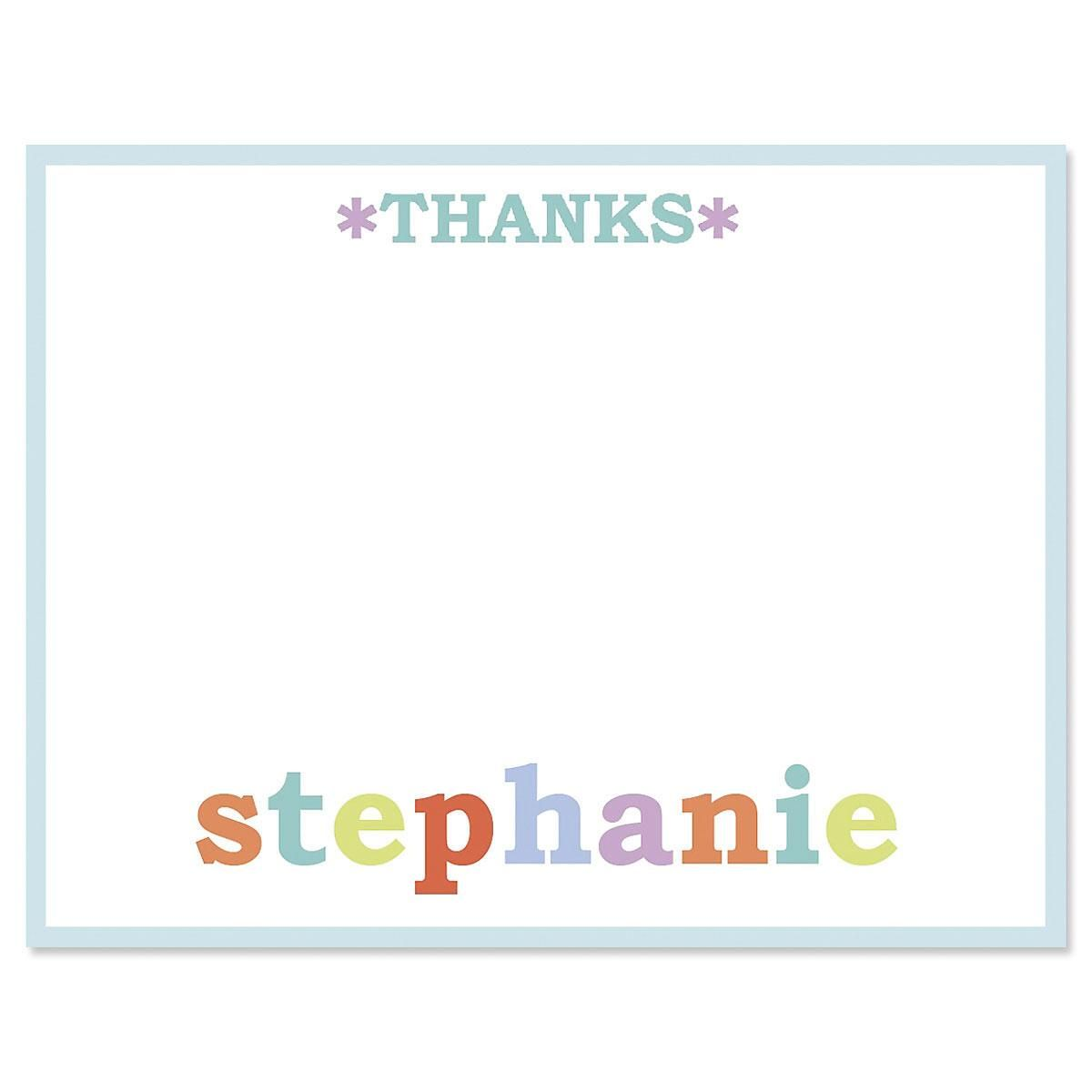 Emma Personalized Thank You Cards