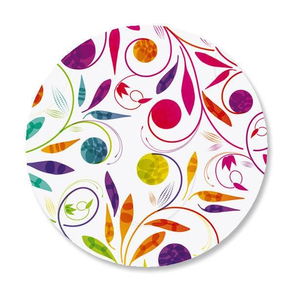 Color Swirl Envelope Sticker Seals