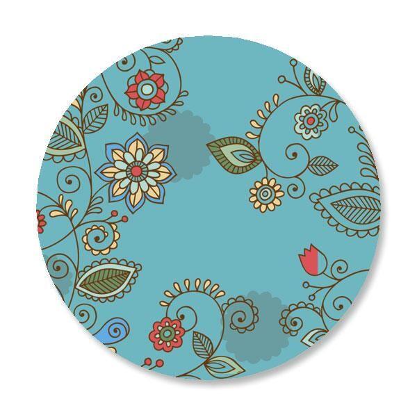 Paisley Blue Envelope Sticker Seals