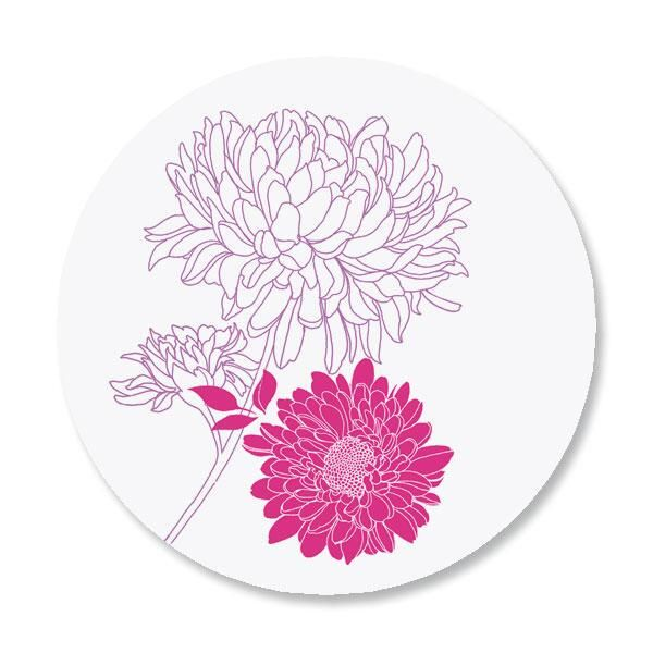 Flora Envelope Envelope Sticker Seals