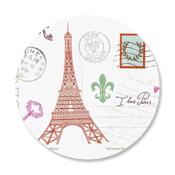 Paris Envelope Sticker Seals