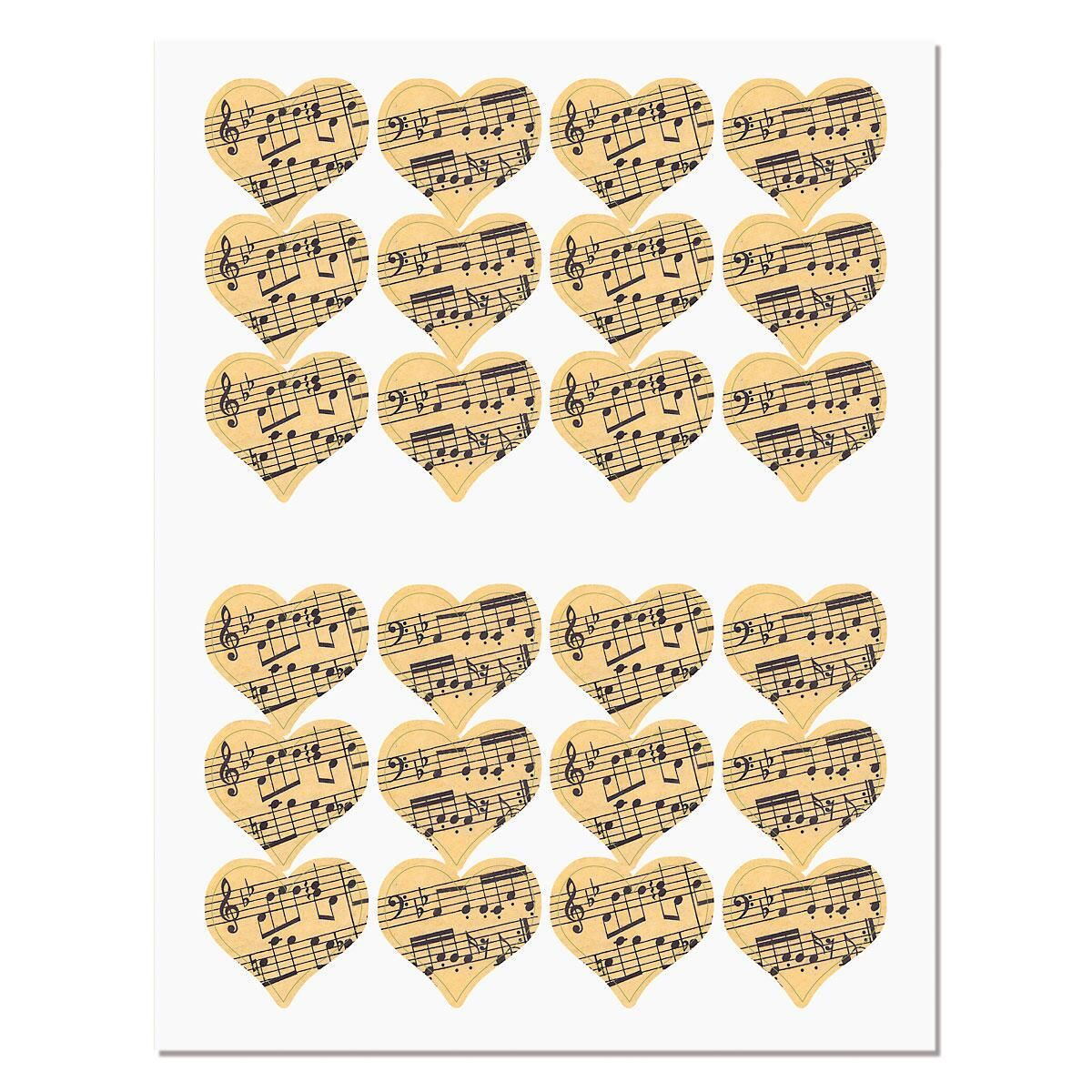 Sheet Music Envelope Sticker Seals