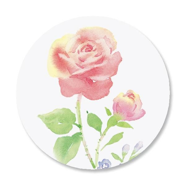 Rose Envelope Sticker Seals
