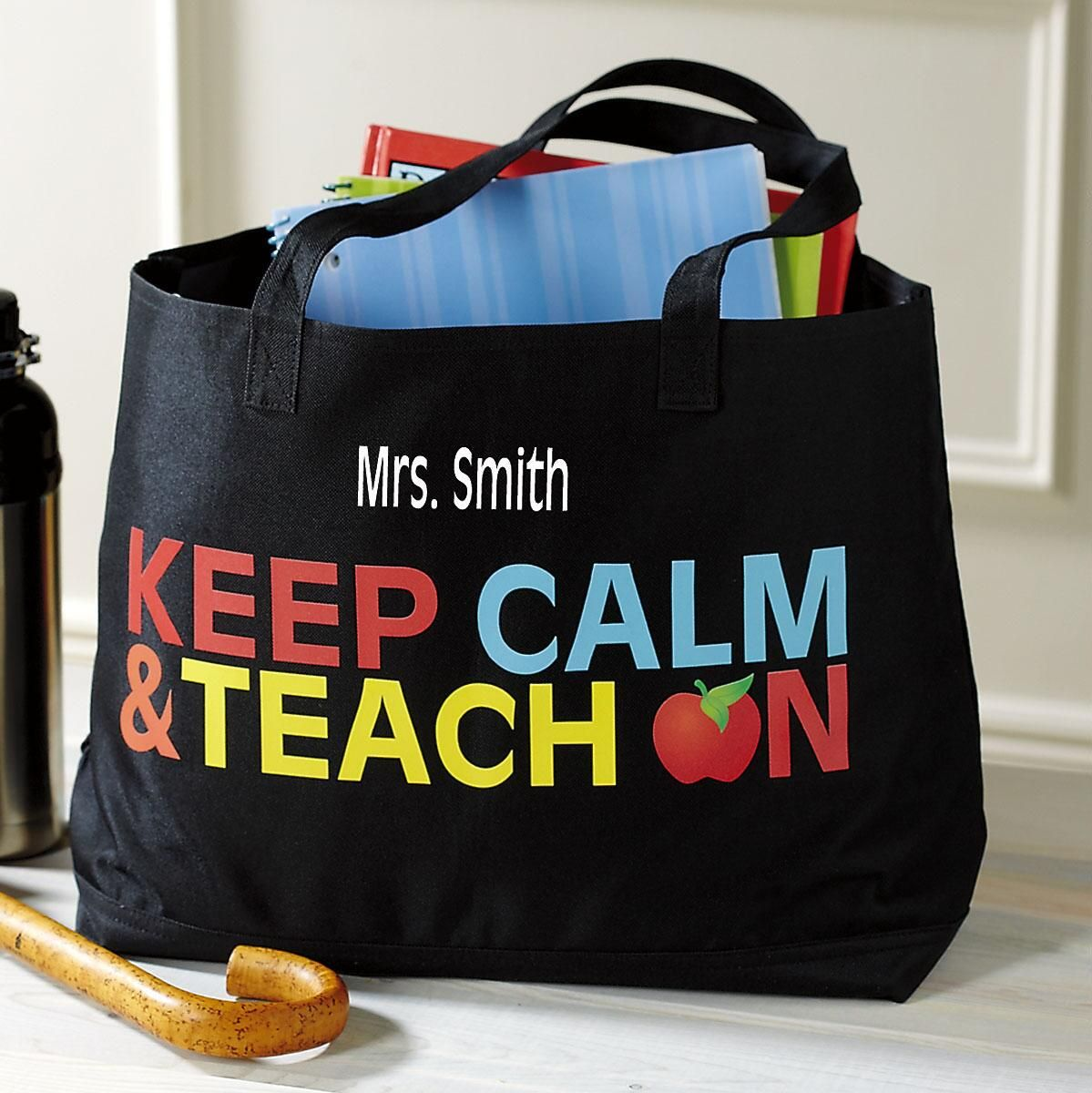 Personalized Teacher Tote