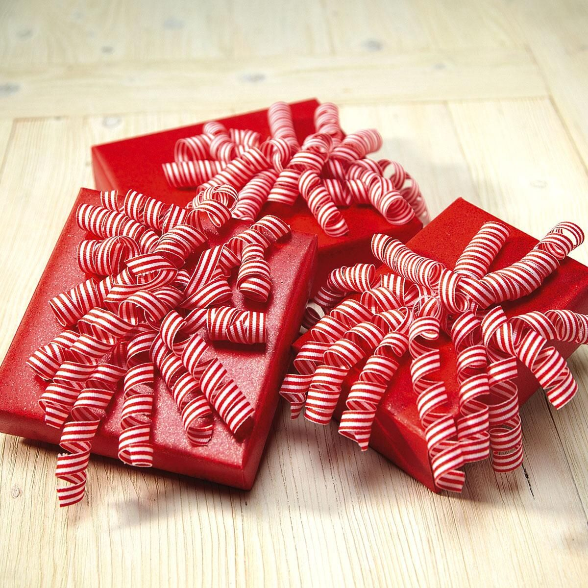 Candy Cane Curly Bows