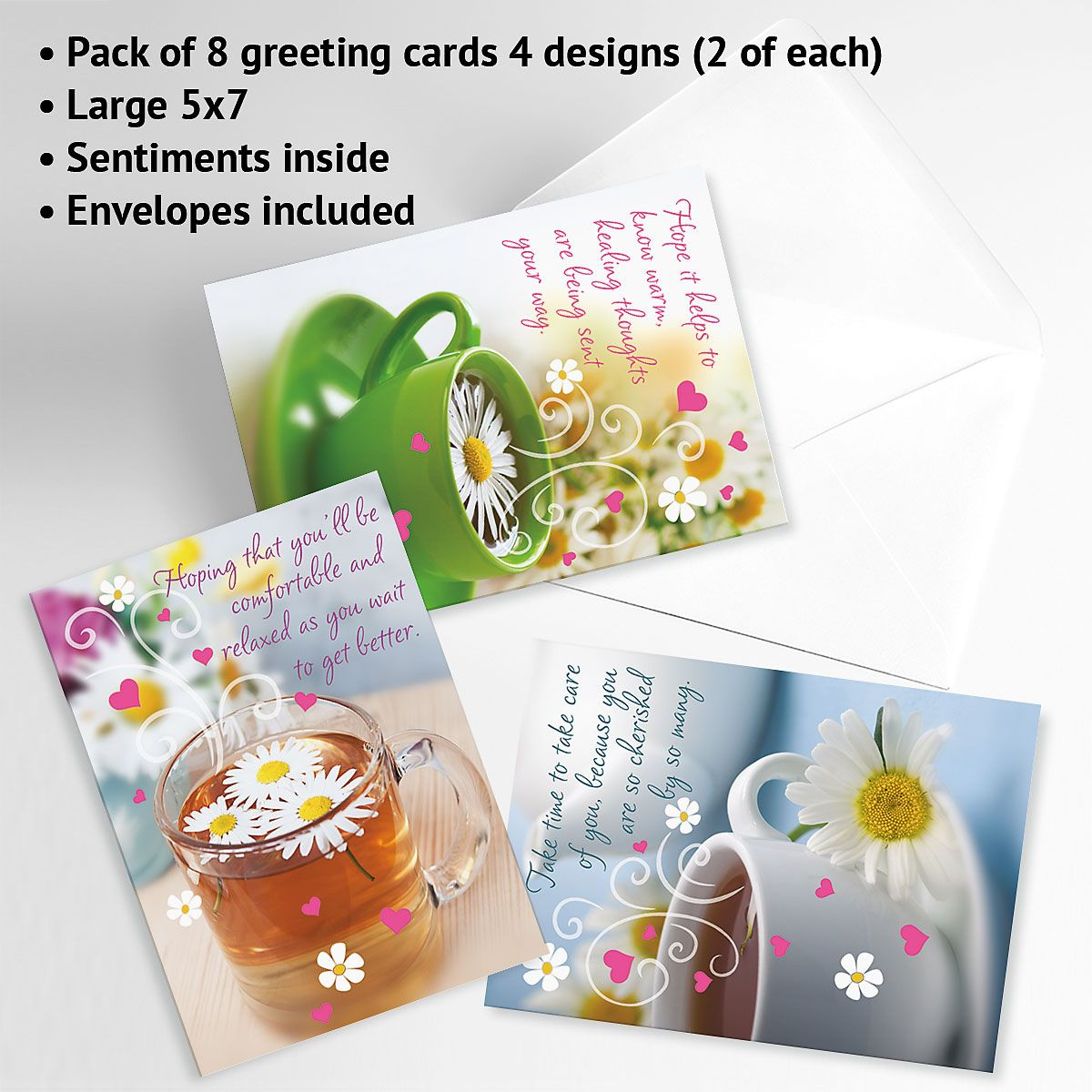 Teacup Get Well Cards and Seals