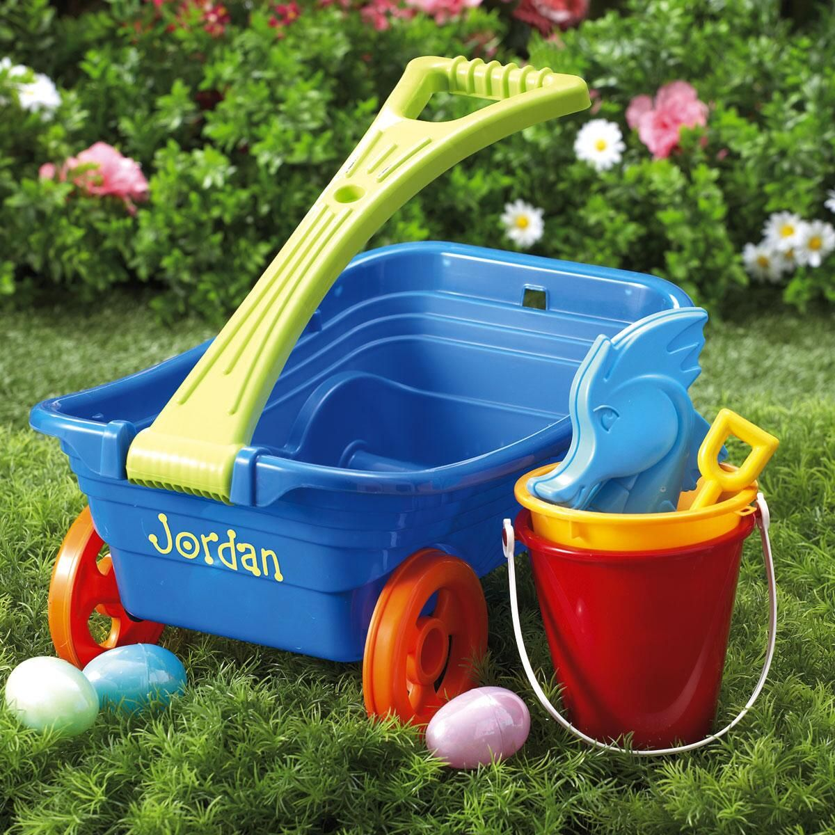 Personalized Plastic Wagon Set