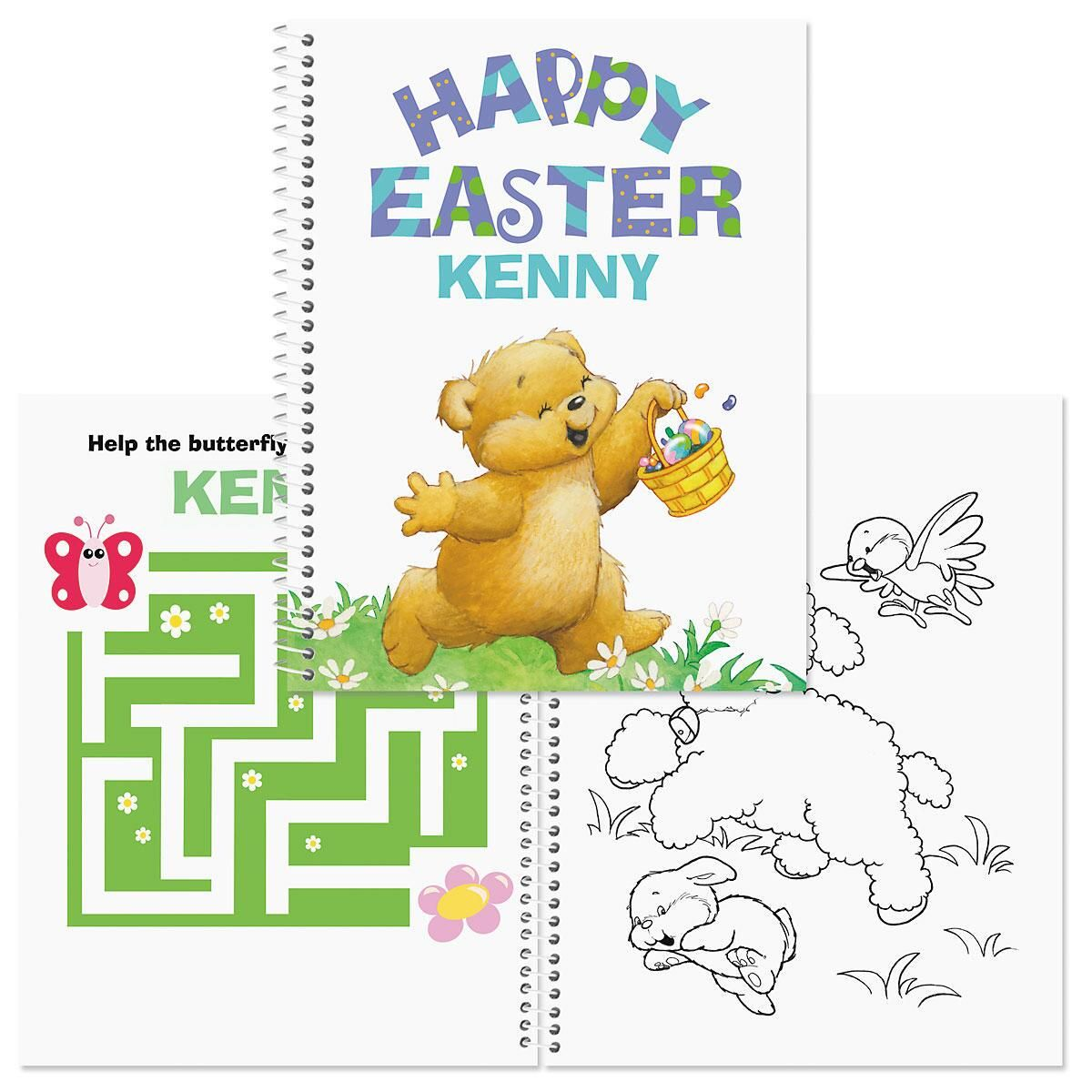 Easter Coloring & Activity Personalized Book