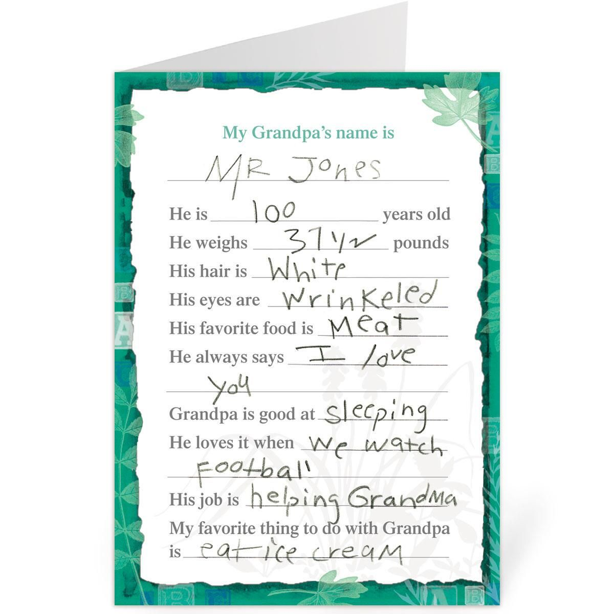 Grandpa Fill-in Father's Day Card