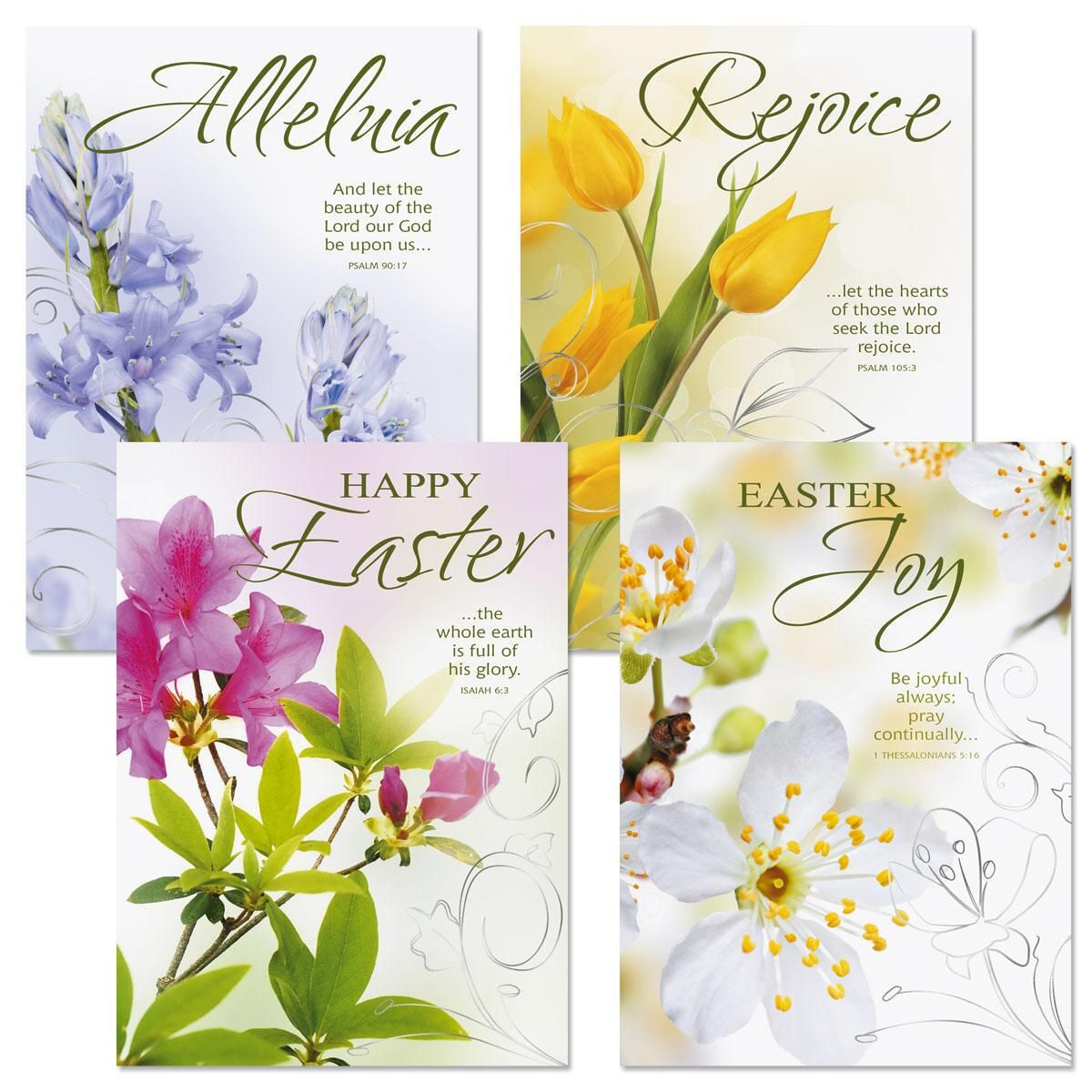 Joy Deluxe Foil Religious Easter Cards