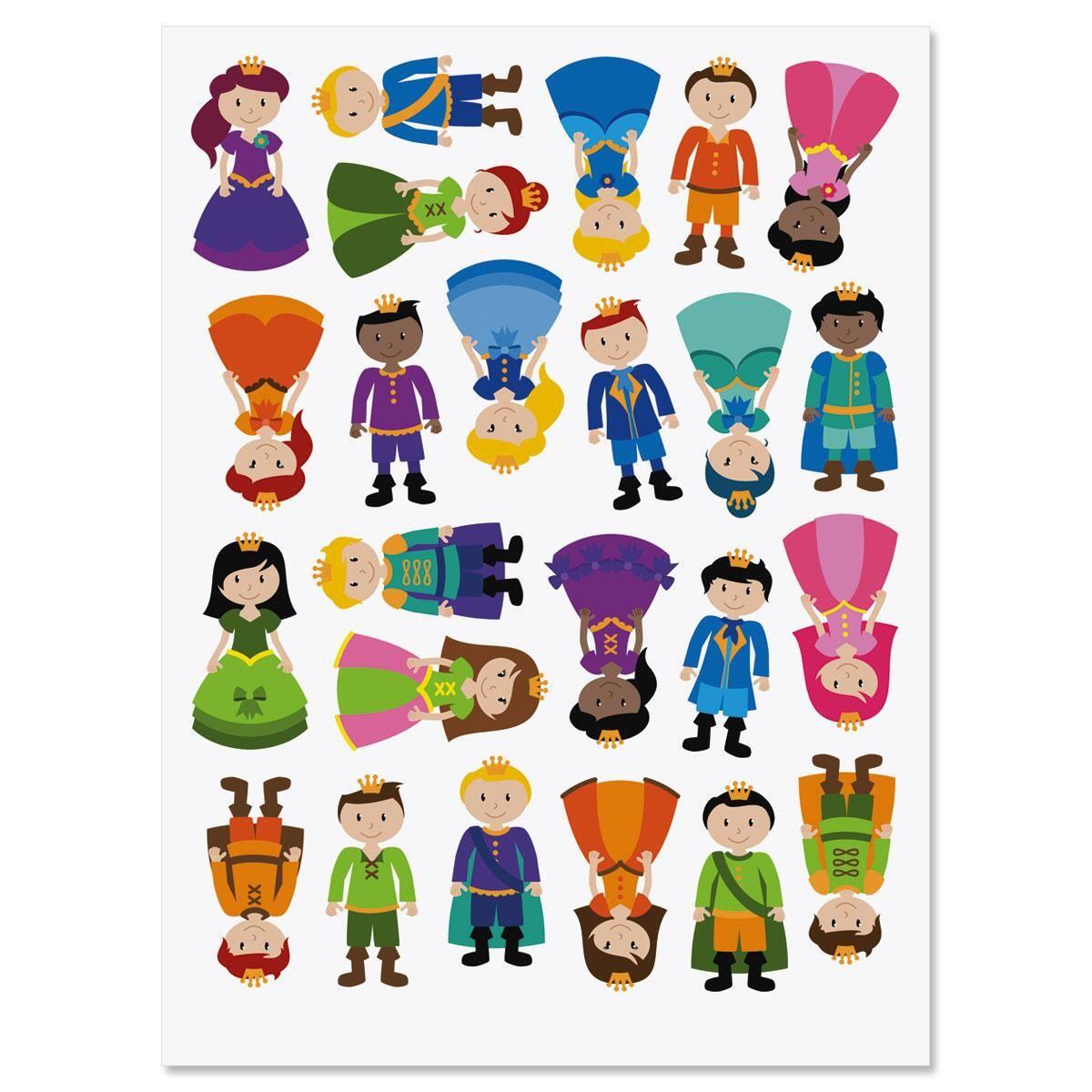 Prince and Princess Stickers