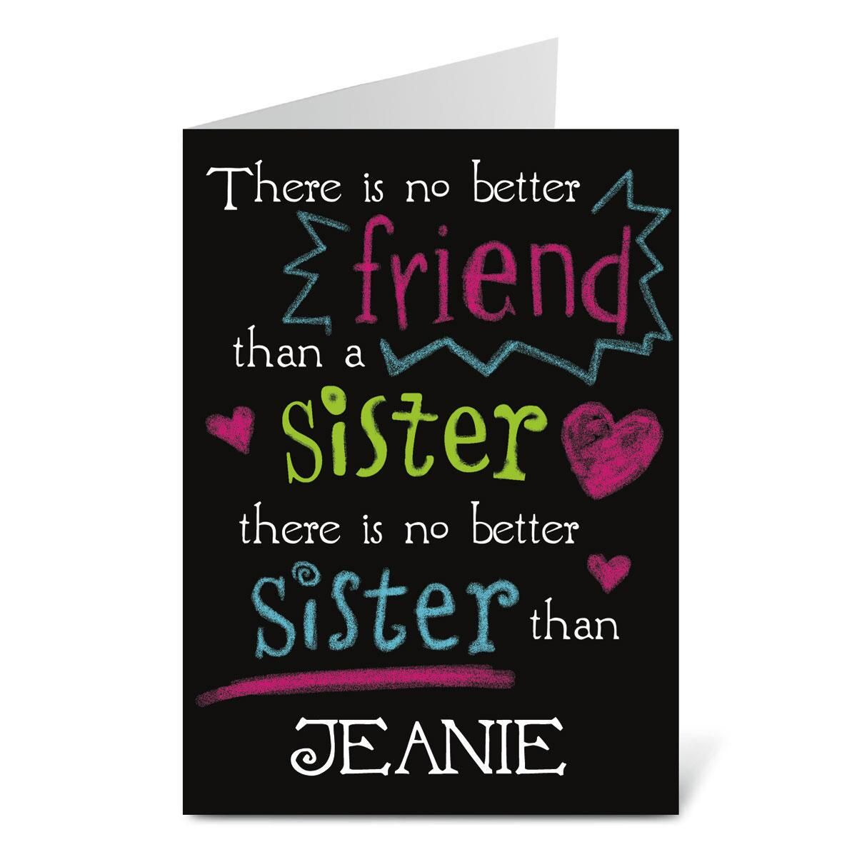 To Sister Birthday Create-A-Card