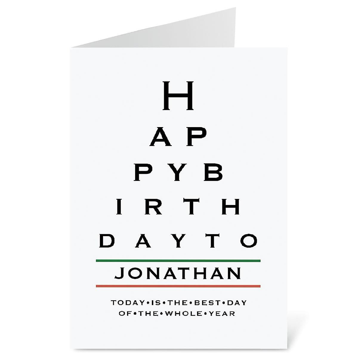 Eye Chart Select-A-Card