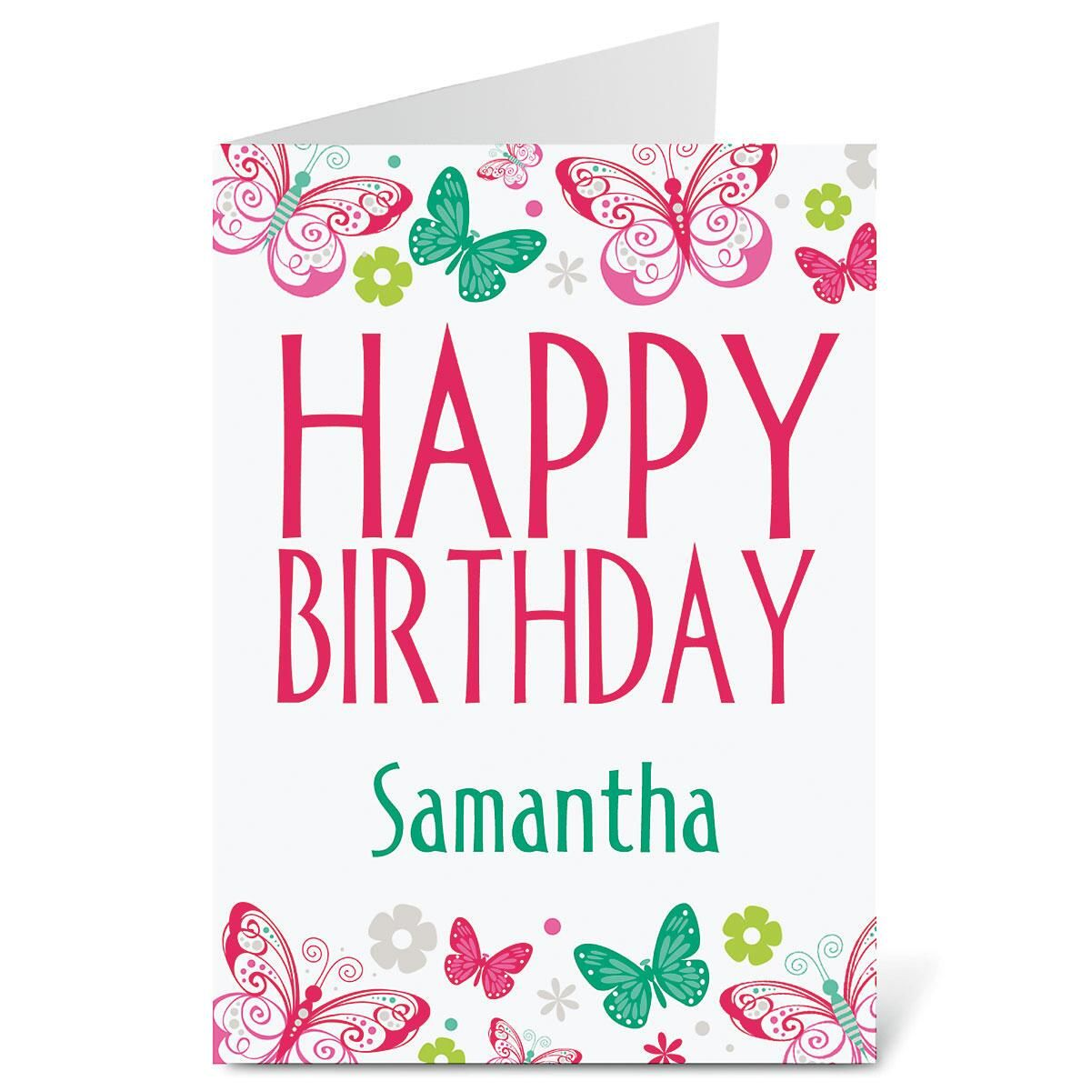 Butterfly Border Birthday Create-a-Card