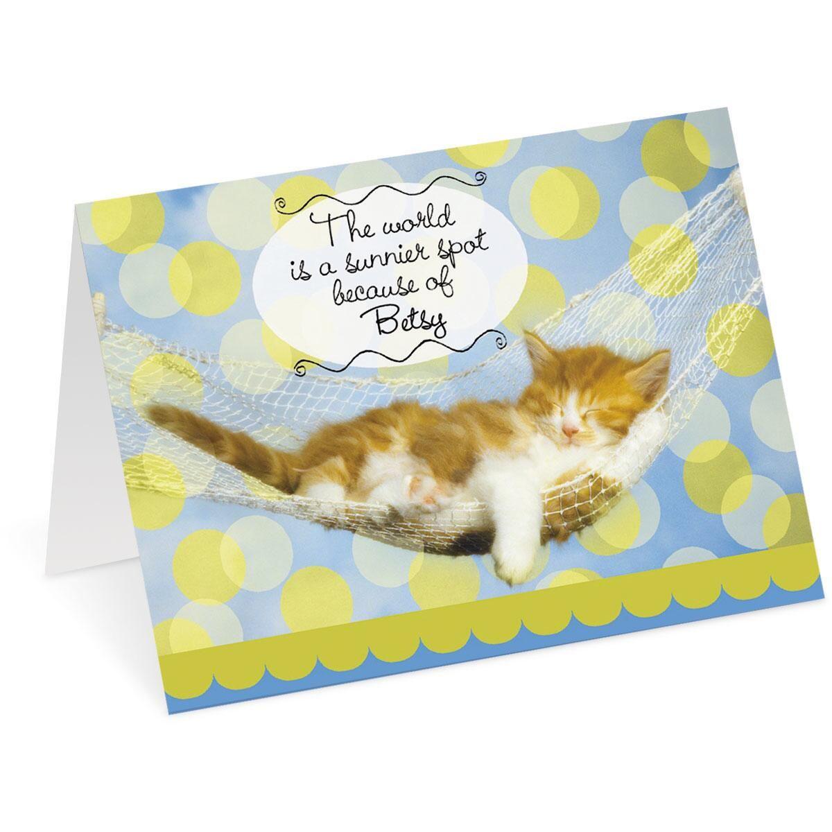 Sunnier Spot Cat Birthday Card