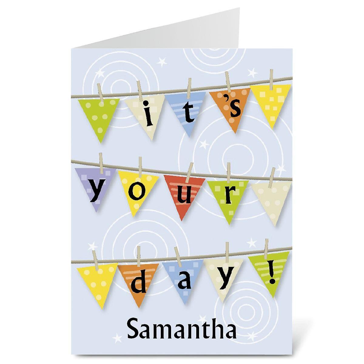 Personalized Birthday Banner Birthday Card