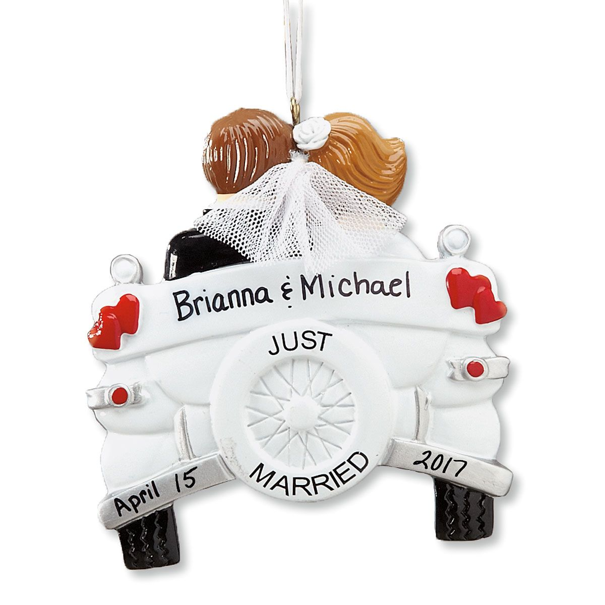 personalized just married ornament wedding gift