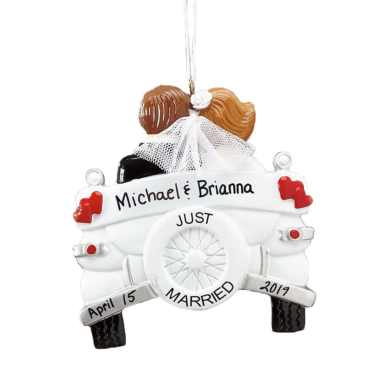 Personalized Just Married Wedding Ornament
