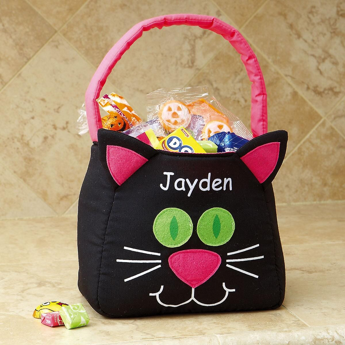 Personalized Funny Cat Trick or Treat Bag