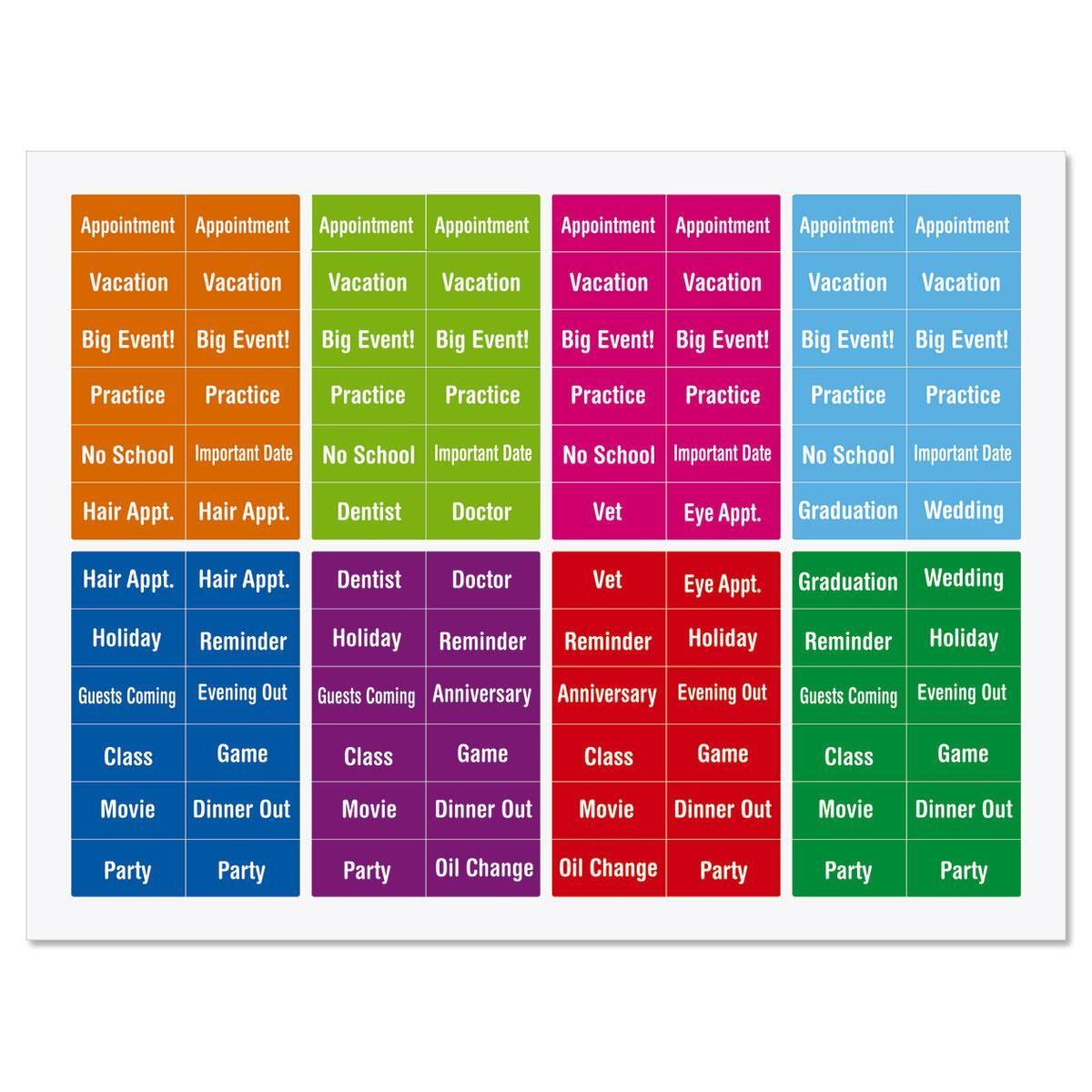 Mini Calendar Reminder Stickers
