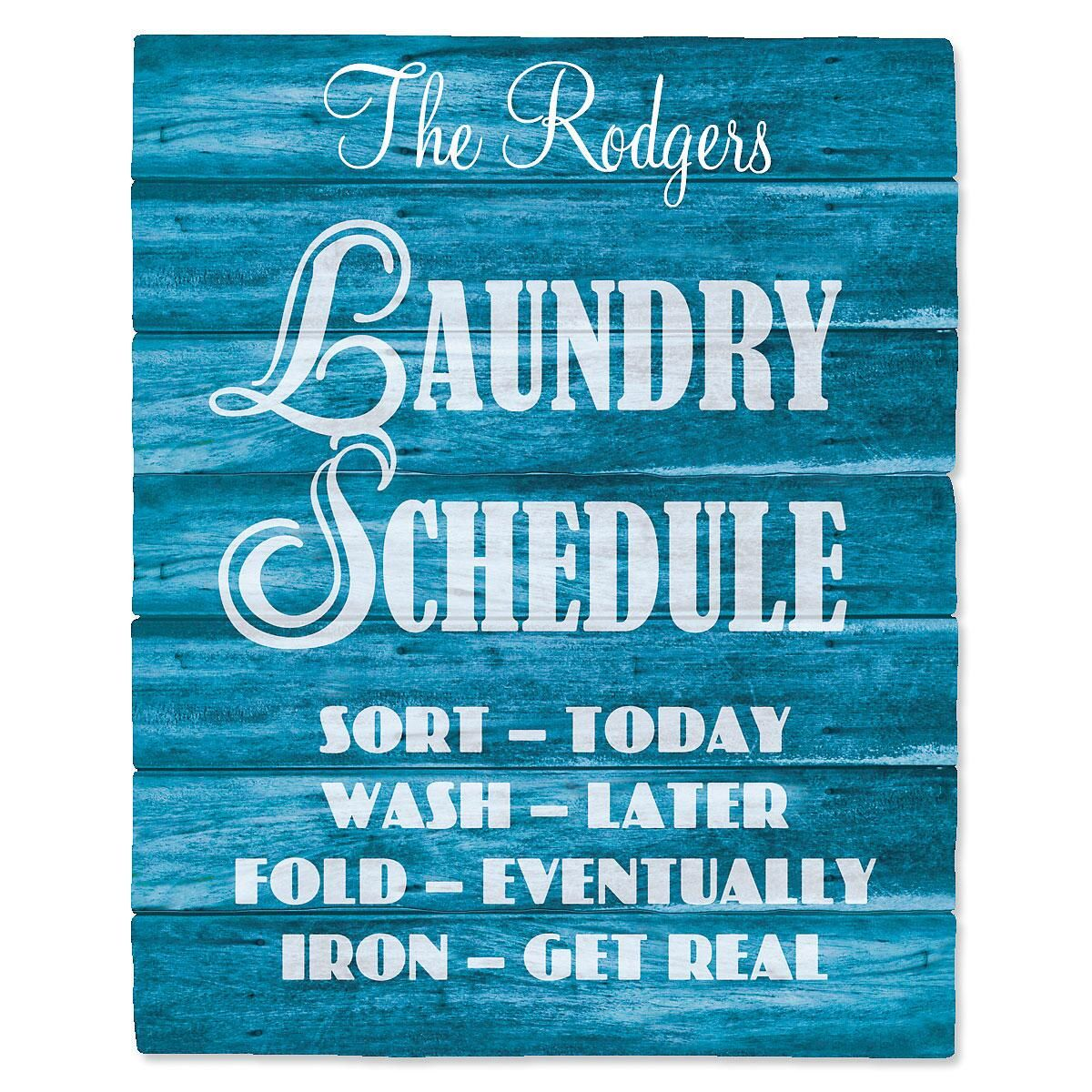 Laundry Rules Wall Vinyl
