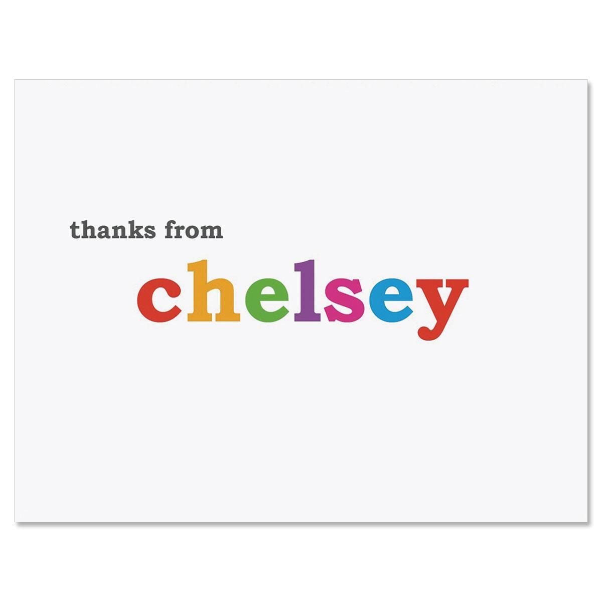 Paintbox Personalized Thank You Note Cards