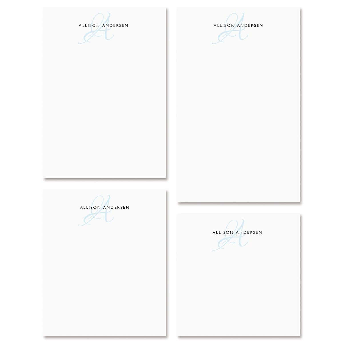 Initial Personalized Notepad Set