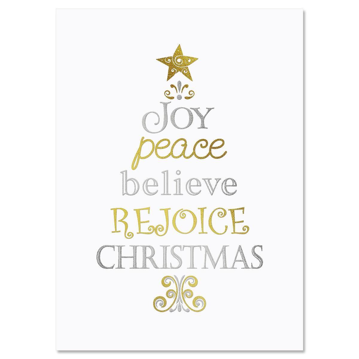 Tree of Faith Deluxe Faith Christmas Cards