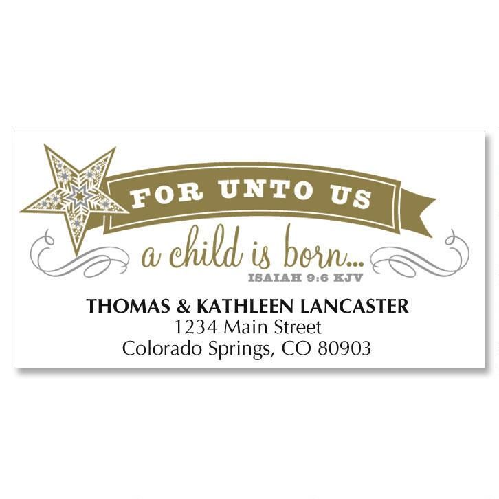 Simple Stars Christmas Address Labels