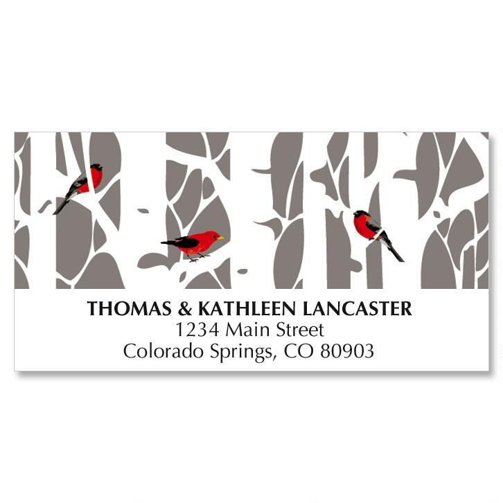 Aspens in Snow Christmas Address Labels