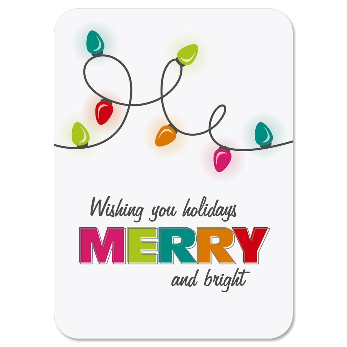 Christmas Lights Personalized Christmas Cards - Set of 72
