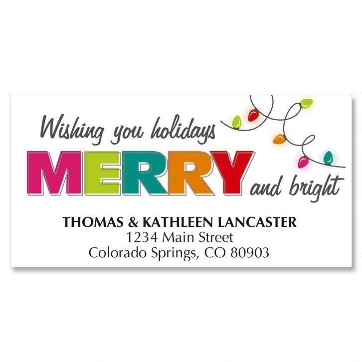 Christmas Lights Christmas Address Labels