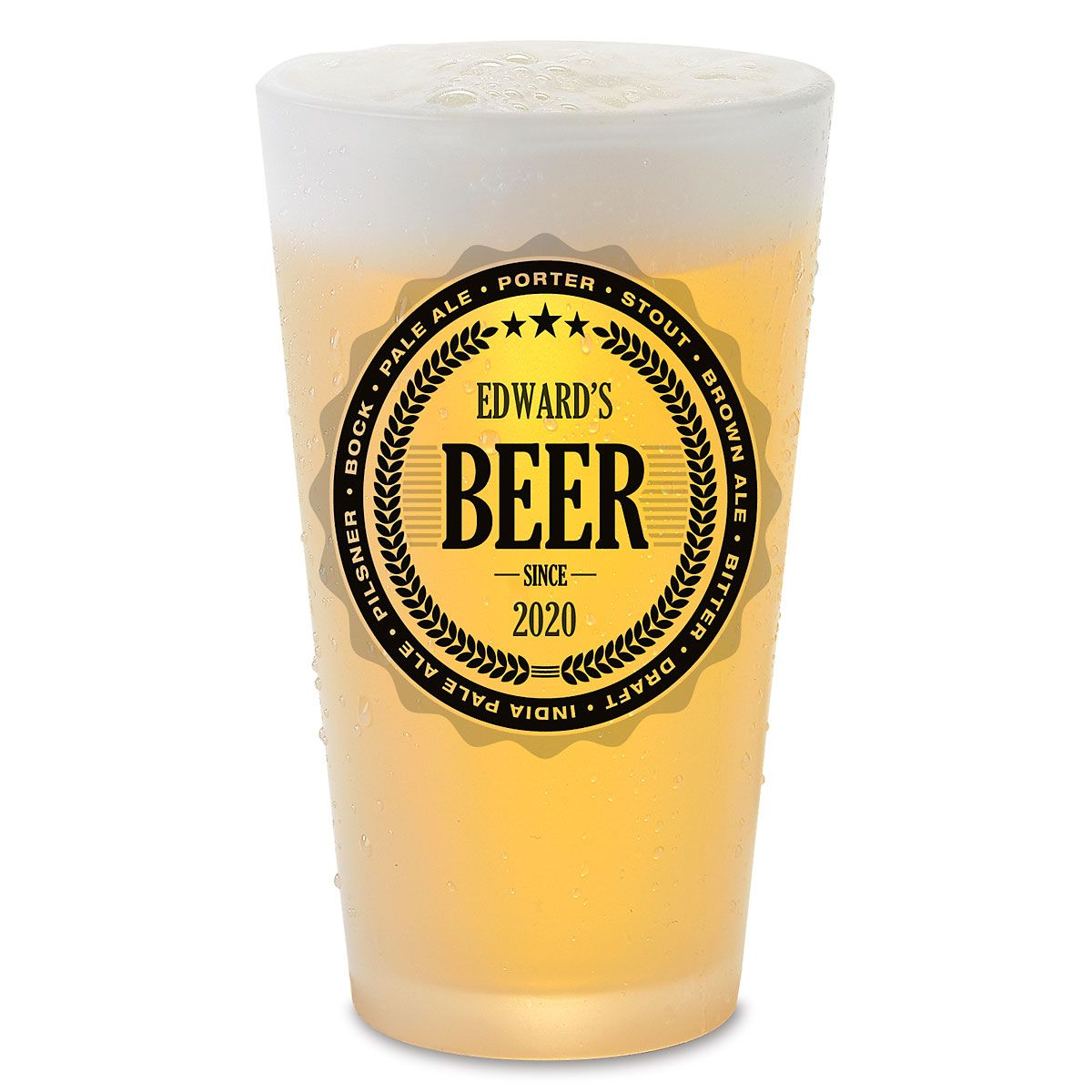 Brewing Beer Pint Personalized Glass