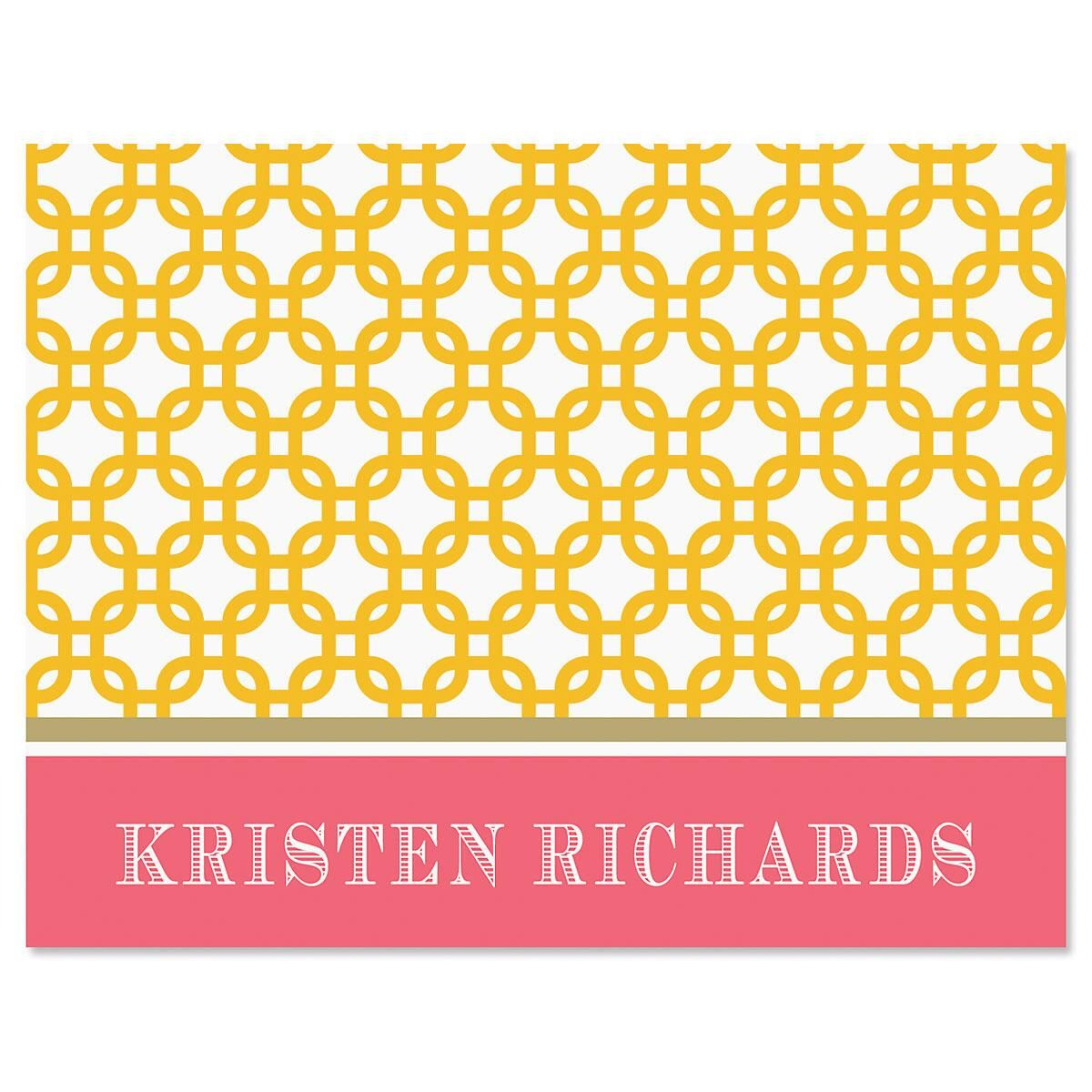 Linked Personalized Note Cards