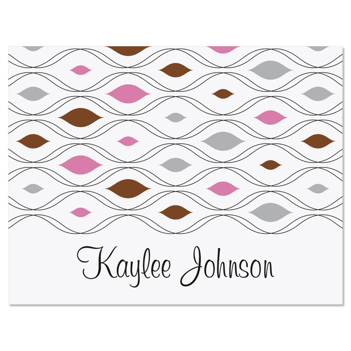 Retro Personalized Note Cards