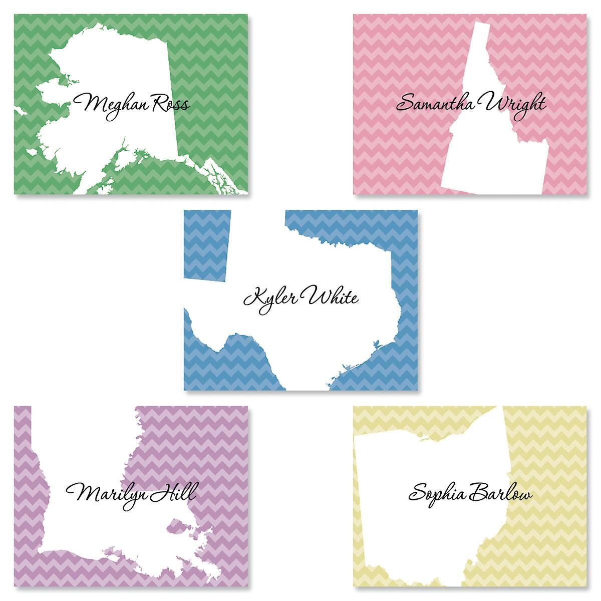 State Personalized Note Card