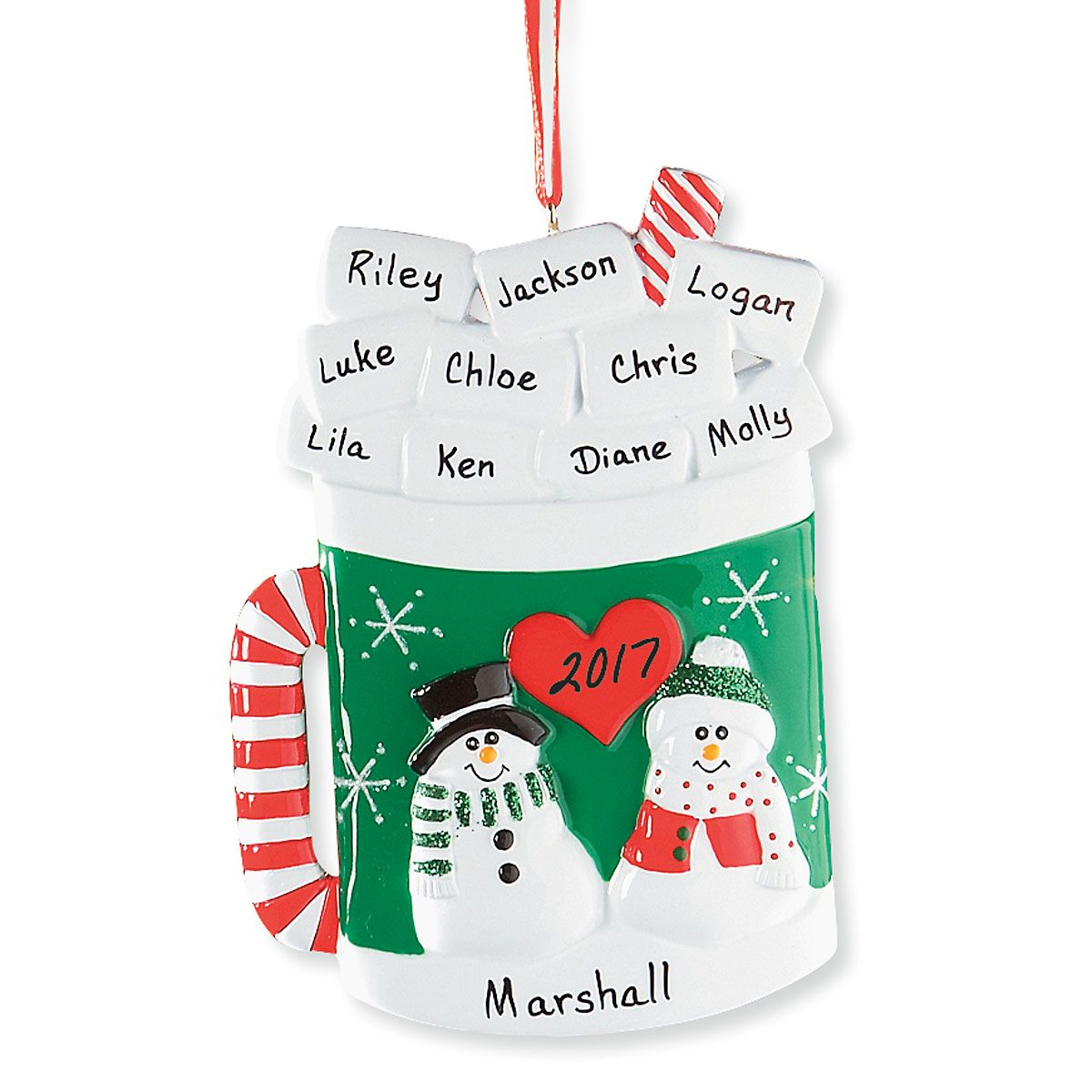 Personalized Marshmallow Mug Ornament