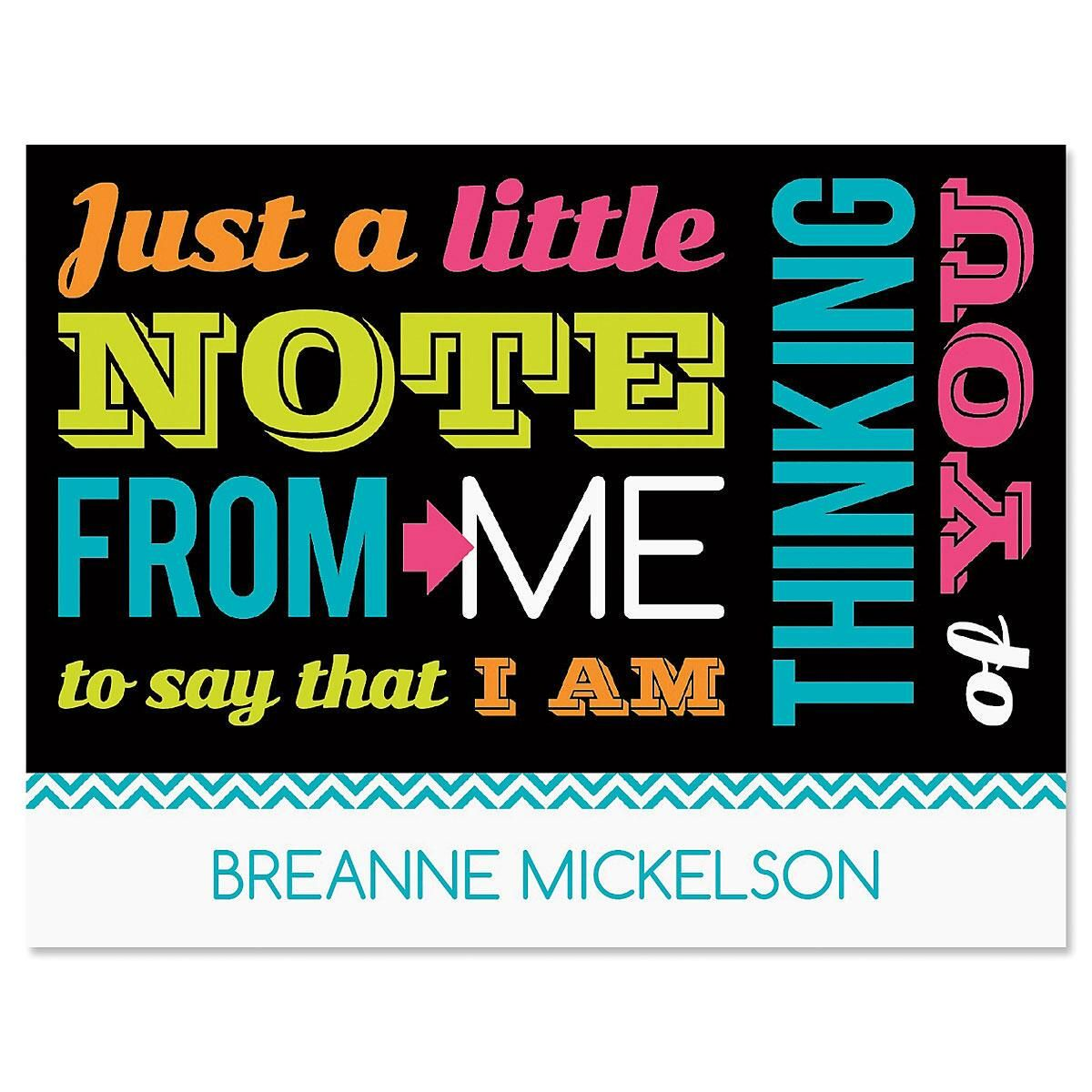 Vibrant Verse Personalized Note Cards