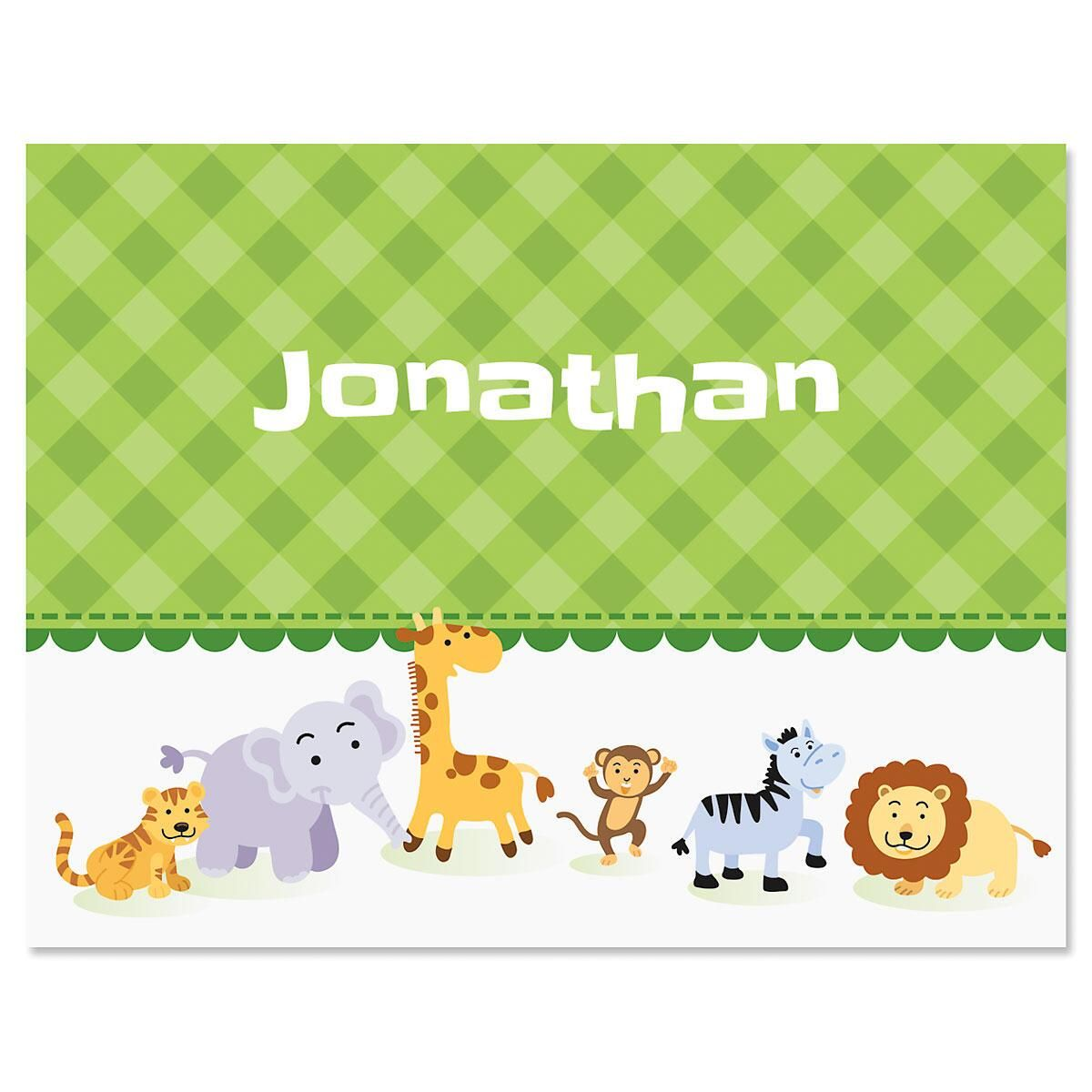 Animal Friend Personalized Note Cards