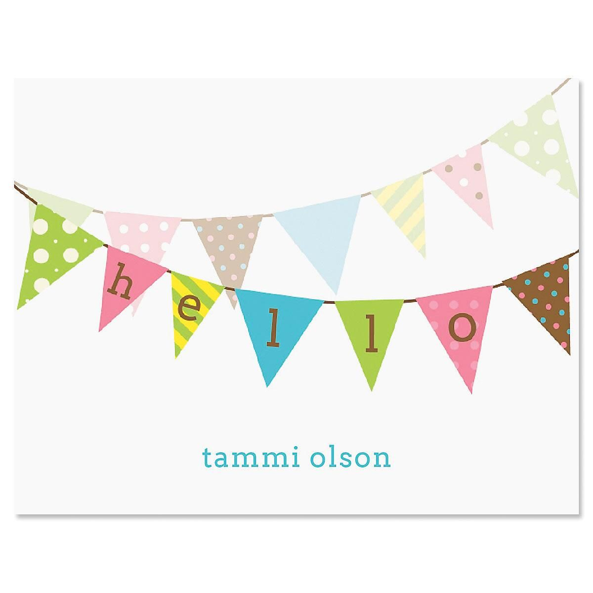 Banner Greetings Personalized Note Cards