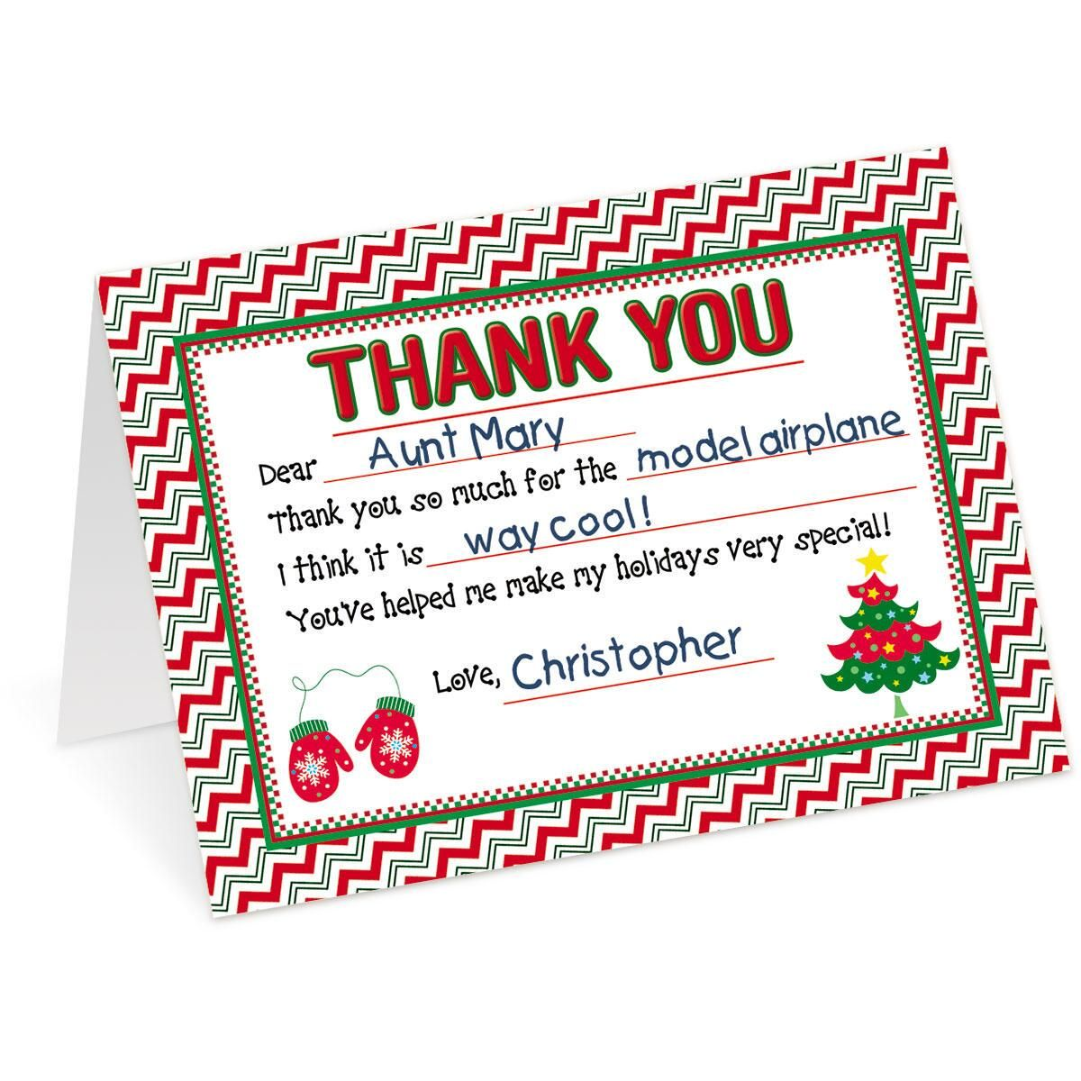 Sweet Note Personalized Thank You Cards