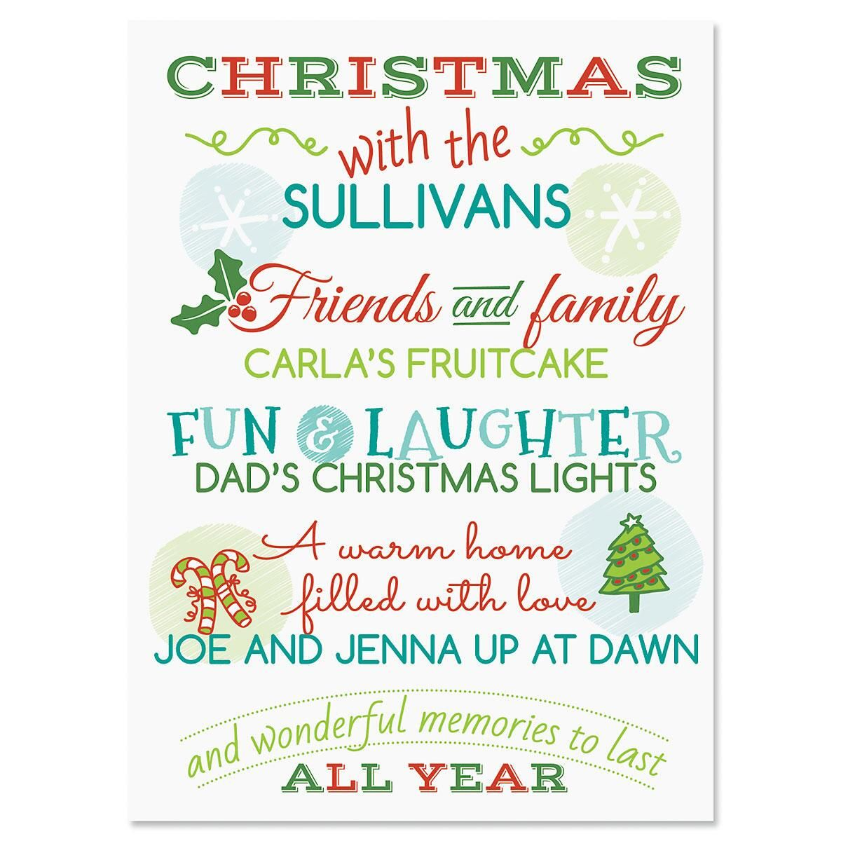 Our family personalized classic christmas cards current catalog our family personalized classic christmas cards m4hsunfo