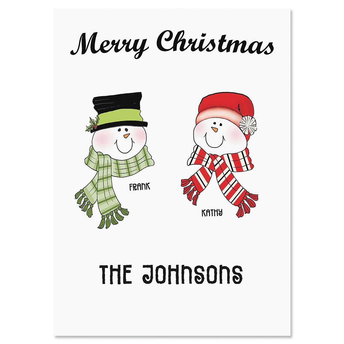 Grandma's Snowballs  Personalized Classic Christmas Cards